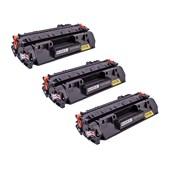 Kit 3 Toner Compatível CE505A M425 P2055 M401 CF280A