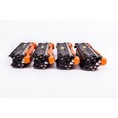 Kit 4 Cores Toner Compatível CE400 CE250 CM3530 3525