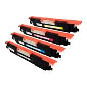 Kit 4 Cores Toner Compatível CF350A CP1025 M175 CE310A M177