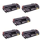 Kit 5 Toner Compatível CF280A M401 P2055 M425 CE505A
