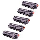 Kit 5x Toner Compatível p/ Hp 3050 1020 1018 3015 1015 12a