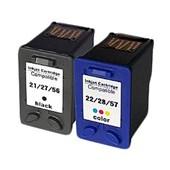 Kit Compatível P/ Hp Deskjet F4180 21 22 D2460 Psc 1410 F380